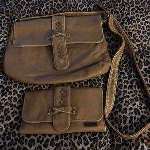 Roxy crossbody purse and matching wallet